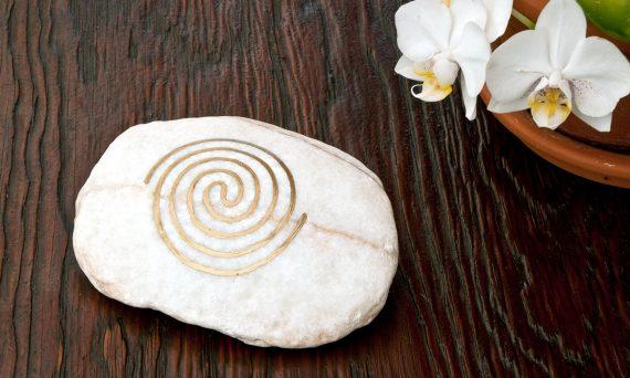 edler Marmor mit Energiespirale - ideal zur Anhebung der Raumenergie